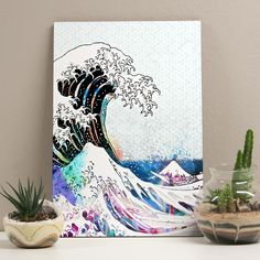 Placa decorativa - Tsunami of Colors - Decohouse