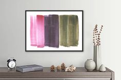 Minimalist Large Abstract Painting Interior Design Art Giclee Print Watercolor Painting by AcrylicVSWatercolor Interior Paint, Interior Design, Large Abstract Wall Art, Watercolor Paintings Abstract, Giclee Print, Design Art, Minimalist, Etsy, Nest Design