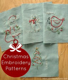 free christmas embroidery designs - Print & Stitch | PatchworkPosse #freeembroidery #sewing #handmadeholidays