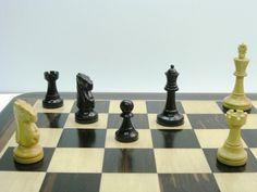 Monarch Staunton Ebonised Chess Pieces