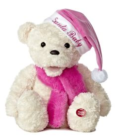 """Believe in Santa Clause, teddy bears and friends, and a magical joy that never ends! Press Winter Wina's left foot to watch her dance & sing """"Santa Baby."""""""