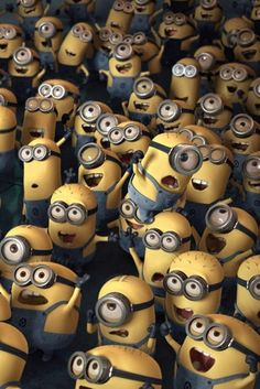 Minions from Despicable Me.Lots of Minions! Minion 2, Cute Minions, Minions Despicable Me, Minion Party, Minions 2014, Ipod Wallpaper, Background Hd Wallpaper, Desktop Wallpapers, Minion Wallpaper