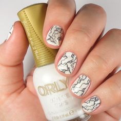 Stone Marble Nails | White Marble Nail Art | Orly