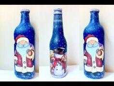 Decoração de natal com garrafas de vidro | ₱éταℓαs ∂єℓicα∂αs                                                                                                                                                     Mais