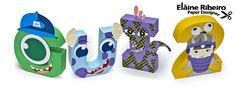 Letras 3D Monster's Inc.