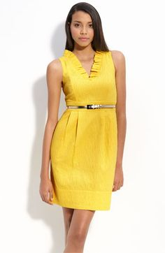 This dress will be at my wedding :) It took me a while to find the perfect shade of yellow....and the PERFECT fabric that will breathe in HOT humid temps. :-)