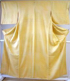 Kimono Dress Japan Vintage Awase Geisha costume used silk komon Kamon169R14R14