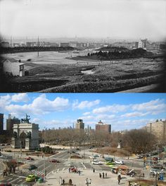 Grand Army Plaza in Brooklyn Photographer Reshoots Some of the Oldest Surviving Photos of New York Then And Now Pictures, Empire State Of Mind, Vintage New York, Nyc, Ethiopia, New York City, Times Square, Brooklyn, Old Things