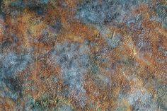 Verdigris faux painting technique