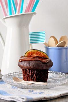 Cake au chocolat, aux figues et à l'huile d'olive