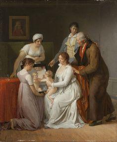 Jacques-Augustin-Catherine Pajou (1766-1828) Portrait de la famille de l'artiste, 1802 Huile sur panneau - 63 x 52 cm Paris, Musée du Louvre Photo : Saint-Honoré Art Consulting