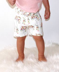 Floral Shorts Tree Fleur Shorts Baby Shorts by LittleFootBoutique