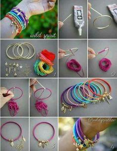 rainbow bracelets. Source: lovehobbycraft on facebook