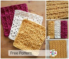 Scrubbing Rdiges Dishcloth, free crochet pattern and tutorial by Heidi Yates