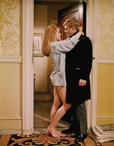 """Jane Fonda and Robert Redford in """"Barefoot In The Park"""" (1967)."""