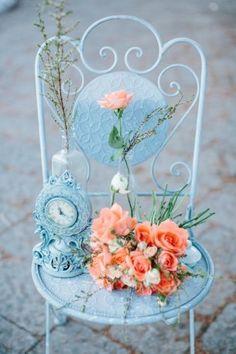 Декор стульев, Цветы в декоре
