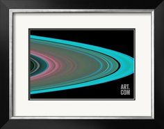 Saturn's Rings Photographic Print by NASA at Art.com