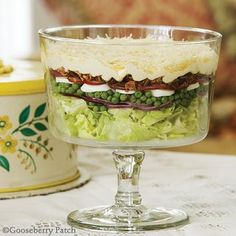 Gooseberry Patch Overnight Layered Salad Recipe. Prepare this the night before - the flavors will improve and you'll have one less thing to worry about!