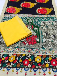WHOLESALERS,MANUFACTURERS AND DISTRIBUTORS OF EXCLUSIVE KALAMKARI HANDPAINTED DUPATTAS IN PURE MANGALGIRI HANDLOOM COTTON..  For bookings:- Resellers/wholesalers/shops/boutiques/traders contact 9909272587(Whatsapp) NOTE:-RESELLERS WELCOME