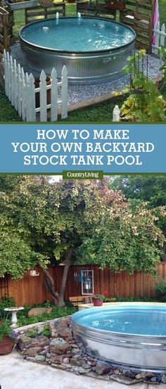 Instead of dropping a ton of cash on a brand new pool just to stay cool this summer, you may want to consider a stock tank pool. Here's how to make a stock tank pool. #stocktankpools #backyardideas #summerideas #backyarddecorating