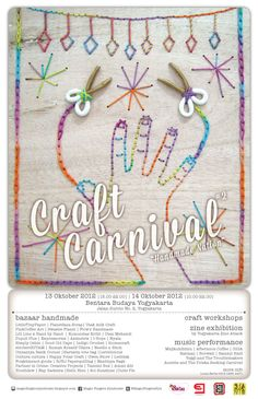 POSTER CRAFT CARNIVAL - annual craft party in Yogyakarta