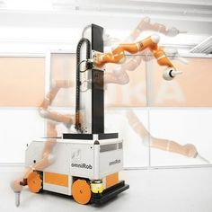 The new helper for the aviation industry is based on #omniRob, a mobile robot from #Kuka. Touch-sensitive robot skin prevents collisions. via @elektrotechnik1.  #AirbusDS, #FACC, #IDPSA, #Prodintec #KukaLaboratories #Profactor