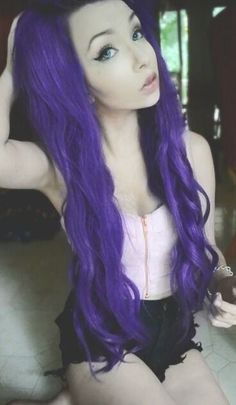Purple Scene hair