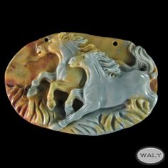 Carved XL Horse Succor Creek Jasper Bead | eBay