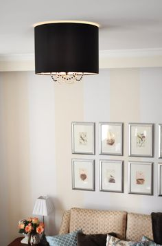 The Painted Hive | Ceiling Light Revamp