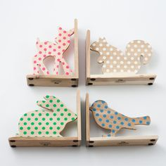 polka dot animal bookends. must have!