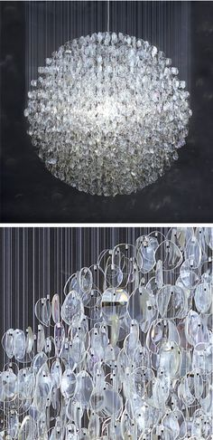 stuart haygarth chandelier {old spectacle lenses} ♥