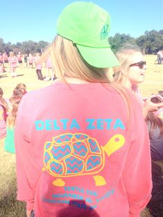 Delta Zeta t-shirt for Turtle Tug. Love the colors and it's just so cute
