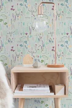 Seemleas Vinatge Pattern Wallpaper | Removable Wallpaper | Vintage Wall Decal | Deer Wall Sticker | Vinatge Self Adhesive Wallpaper