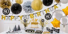 and birthday party themes. Shop for - birthday supplies, decorations, and more. 80th Birthday Party Decorations, 90th Birthday Parties, Birthday Celebration, Party City Balloons, Party Supplies, Mailbox, Mantle, 1 Year, 21st