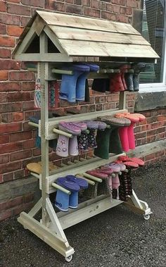 I love this idea so no muddy boots are coming back inside