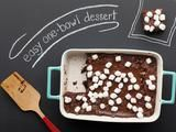 One Bowl Cocoa Brownies Recipe