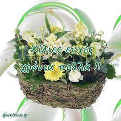 Κάρτες με Ευχές Εορτών και Γενεθλίων Εικόνες με Λουλούδια - giortazo Grapevine Wreath, Wicker Baskets, Grape Vines, Wreaths, Home Decor, Decoration Home, Door Wreaths, Room Decor, Vineyard Vines