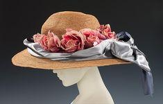 Picture hat Designer: Madame Alphonsine (French) Date: ca. 1910 Culture: French Medium: straw, silk Dimensions: 7 x 21 in. (17.8 x 53.3 cm)