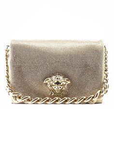 Versace Palazzo Embellished With Swarovski Crystalls Rhinestones Women's Chain Shoulder Bag