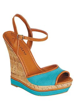 Good Life Wedge Sandals - Turquoise