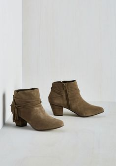 To the Festive my Knowledge Bootie, #ModCloth
