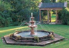 water fountains | How to Build a Fountain in your Garden Fountain garden