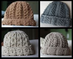Thick Warm Crocheted Winter Hat free crochet pattern.
