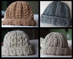 Thick Warm Crocheted Winter Hat free crochet pattern.
