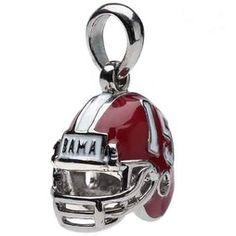 Alabama Football Helmet Bead Charm Pendant for Bracelet or Necklace