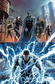 Batman and the Outsiders cover art by Tyler Kirkham – Dc universe Marvel Dc Comics, Dc Comics Heroes, Dc Comics Characters, Dc Comics Art, Comic Book Heroes, Comic Books Art, Book Art, Cover Art, Marvel Universe