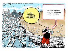Editorial cartoon environment plastic bottles waste ocean Political and Editorial Cartoons - The Week