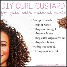 Hey gals! You looking for a shea butter and flaxseed gel recipe? I got you one right here!