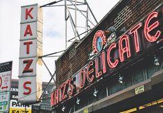 "Katz's Deli - NYC....site of the famous ""faking it"" scene in ""When Harry Met Sally""."