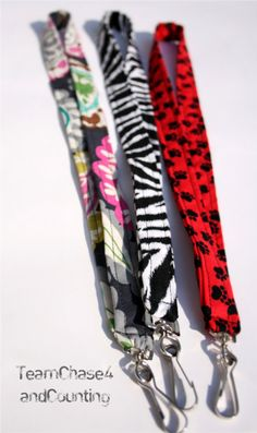 Scrap fabric lanyards